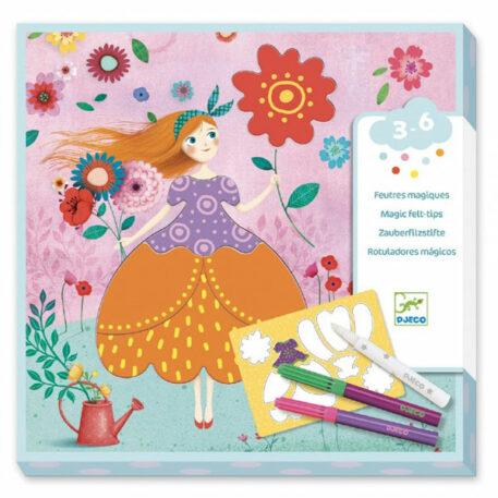 Djeco Magische Viltstiften - De mooie jurken van Marie 3+