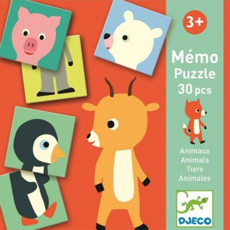 Djeco Memo Puzzle Animals 3+