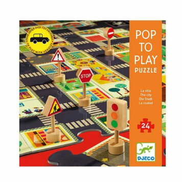 Djeco Pop To Play Puzzel De Stad 3+