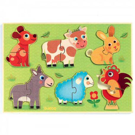 Djeco Puzzel Coucou Cow