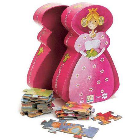 Djeco Puzzel De Prinses en de Kikker 36ST