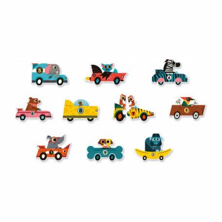 Djeco Puzzel Duo Racewagens 2+