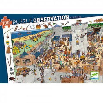 Djeco Puzzel Observation Kasteel 100ST