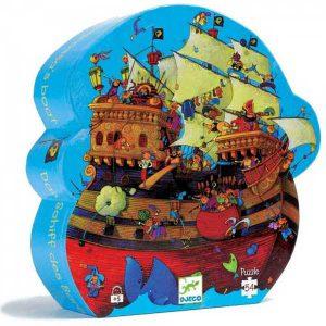 Djeco Puzzel Piratenschip van Roodbaard