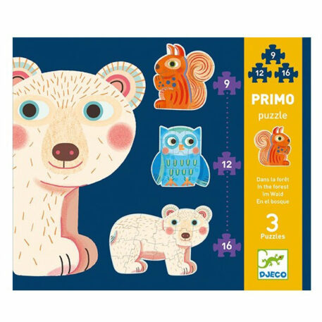 Djeco Puzzel Primo In The Forest (9-12-16 st) 3+