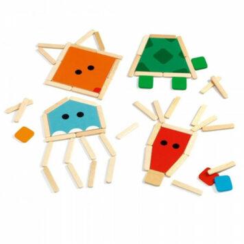 Djeco Puzzelsticks Dieren 3+