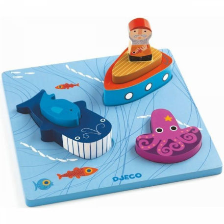 Djeco Relief Puzzle 1,2,3 Moby