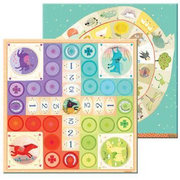 Djeco Spel Ganzebord Ludo & Co Junior