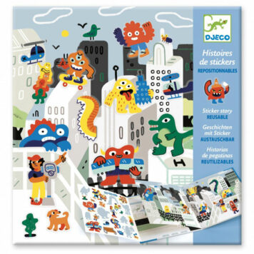 Djeco Sticker Story Monster Invasie 4+