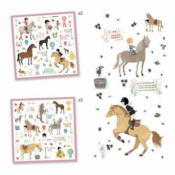 Djeco Stickerset Paarden