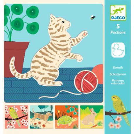 Djeco Tekensjablonen Cute Companions 4+