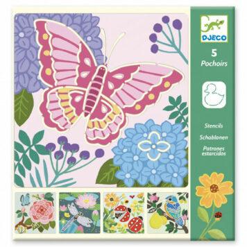 Djeco Tekensjablonen Garden Wings 4+