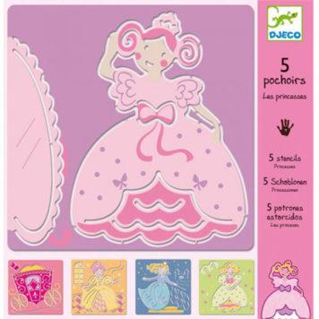 Djeco Tekensjablonen Princessen
