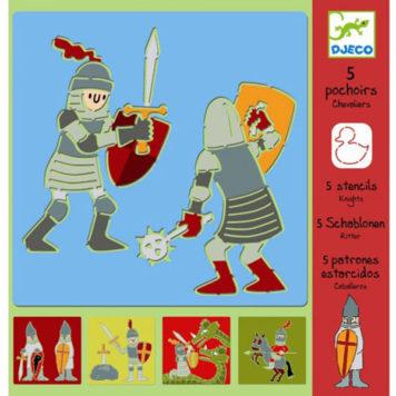 Djeco Tekensjablonen Ridders