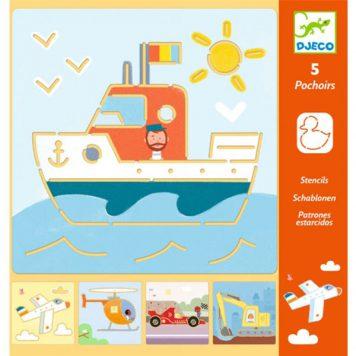 Djeco Tekensjablonen Transports & Co