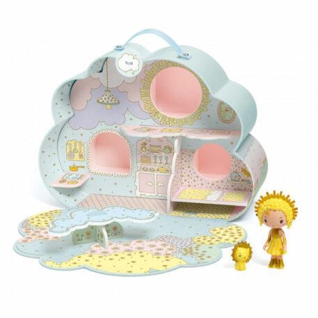 Djeco Tinyly Draagbaar Poppenhuis - Wolkenhuis van Sunny&Mia
