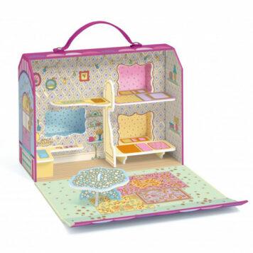 Djeco Tinyly Draagbaar Poppenhuis - Woonwagen van Bluchka & Indie