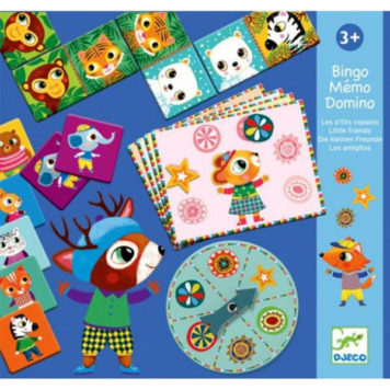 Djeco Trio Spel Bingo-Memo-Domino Little Friends