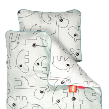 Done by Deer Dekbedset Babybed Contour Blue