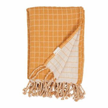 Fabelab Baby Blanket Grid Ocre