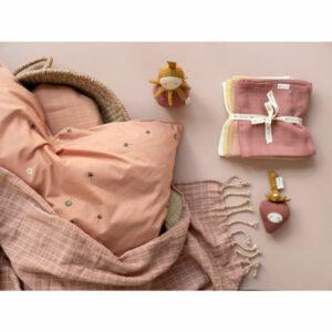 Fabelab Baby Blanket Grid Old Rose
