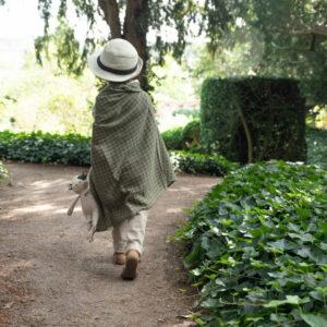 Fabelab Baby Blanket Grid Olive