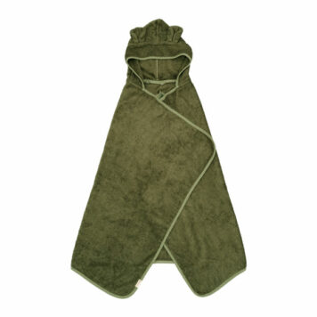 Fabelab Hooded Towel Bear Olive