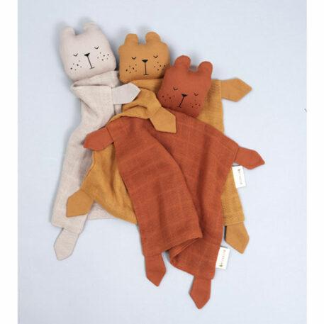 Fabelab Knuffeldoek Bear Cinnamon