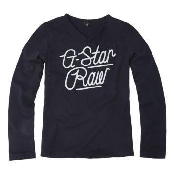 G-Star Girl Longsleeve Logo Script Navy