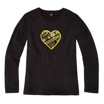 G-Star Girl Longsleeve Original Black Heart