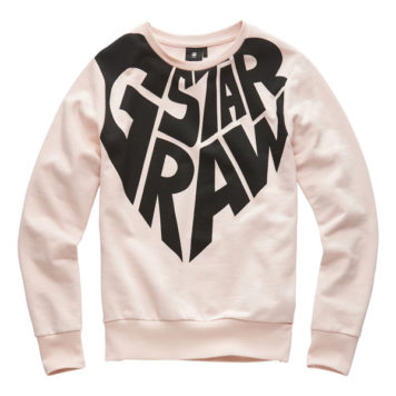 G-Star Girl Sweater RAW Heart Pyg