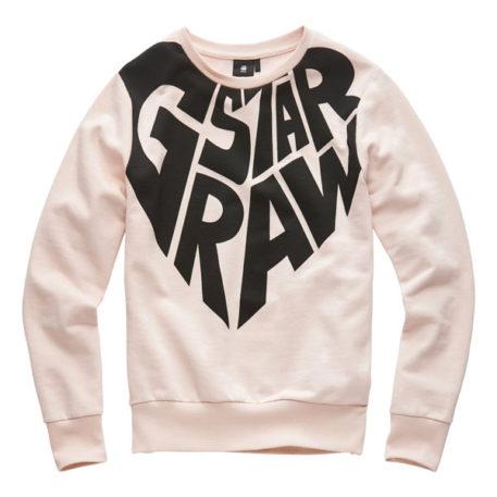 G-Star Girl Sweater RAW Heart Pyg