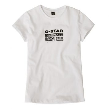 G-Star Girl T-Shirt Logo Original White