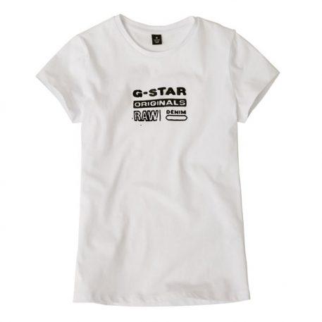 G-Star Girl T-Shirt Logo Original White