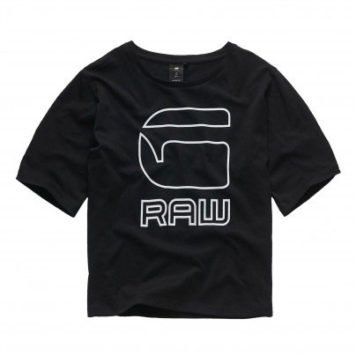 G-Star Raw Girl Boxy T-Shirt Logo Black