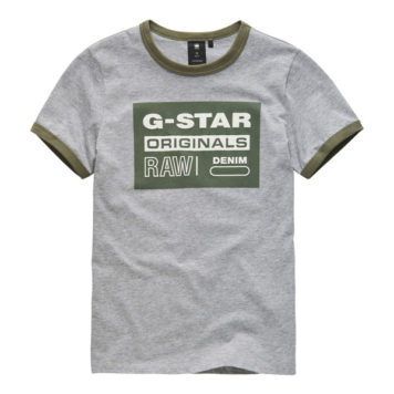 G-Star T-Shirt Bords RAW Gris Clair