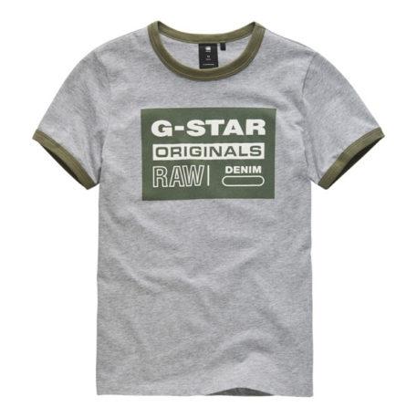 G-Star T-Shirt Bords RAW Gris Clair