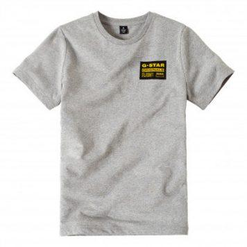 G-Star T-Shirt Gris Logo Rec