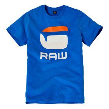 G-Star T-Shirt Logo G Raw Blue