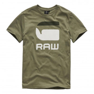 G-Star T-Shirt Logo G Raw Bog Green