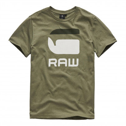 G-Star T-Shirt Logo G Raw Bog Green