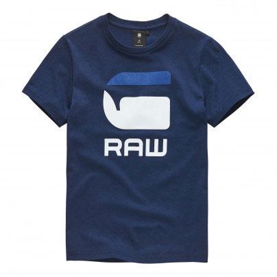 G-Star T-Shirt Logo G Raw Imperial Blue
