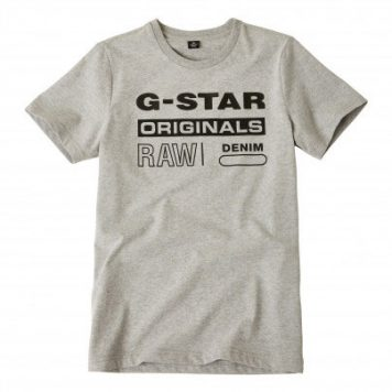 G-Star T-Shirt Logo Original Grey