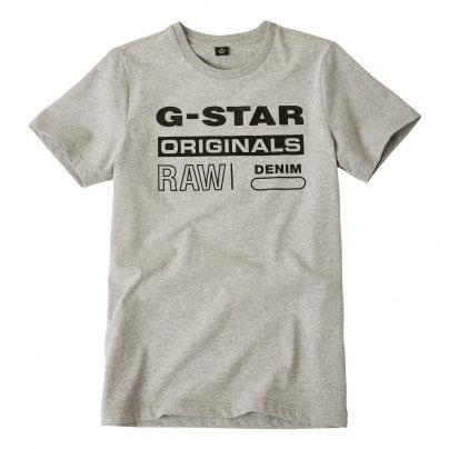 G-Star T-Shirt Logo Original Grey