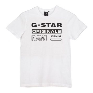 G-Star T-Shirt Logo Original White