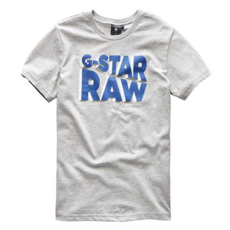 G-Star T-Shirt Logo RAW Industrial Grey