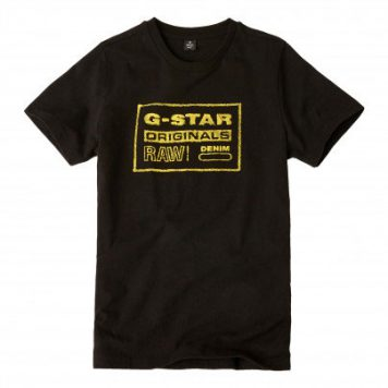 G-Star T-Shirt Original Black Yellow