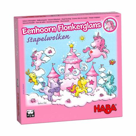 Haba Spel Eenhoorn Flonkerglans - Stapelwolken 4+