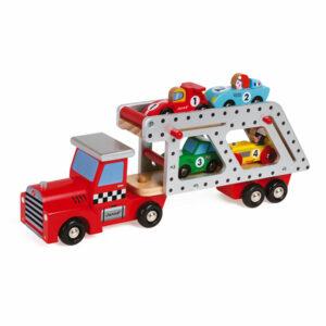 Janod Story Transportwagen voor auto's 2+