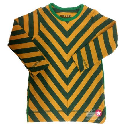 Kik Kid Dress Jersey Big Stripe Yellow